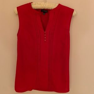 The Limited red sleeveless blouse